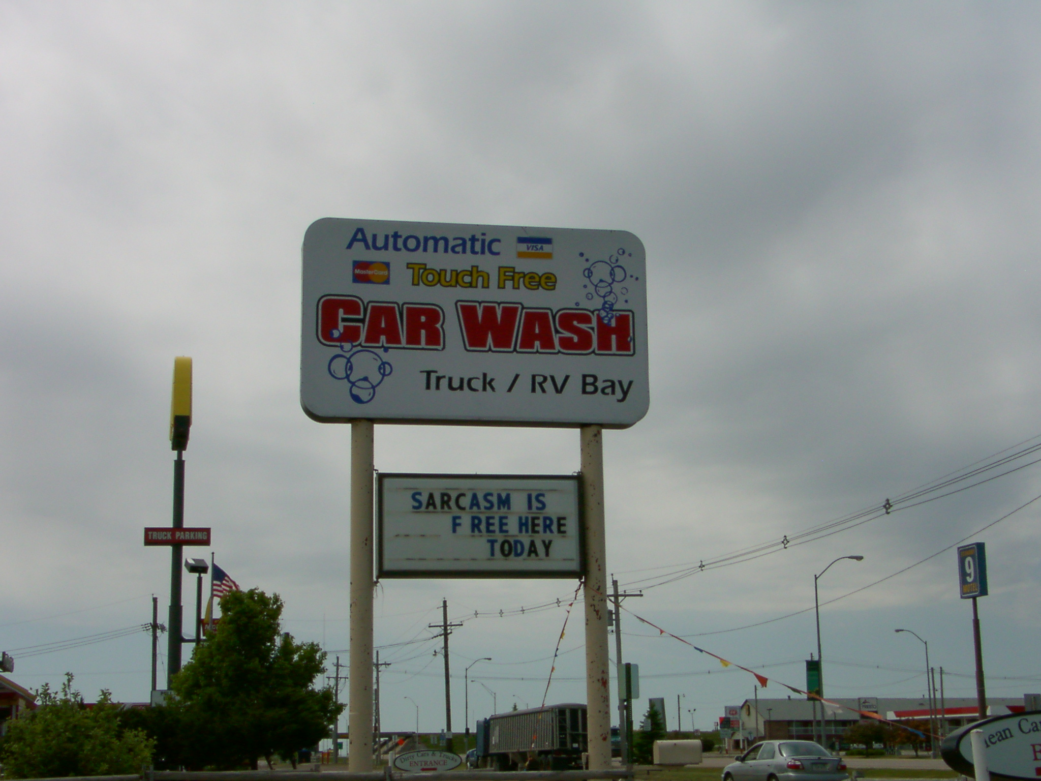 Kansas Car Wash Sign-Sarcasm Is Free Here Today-07.JPG
