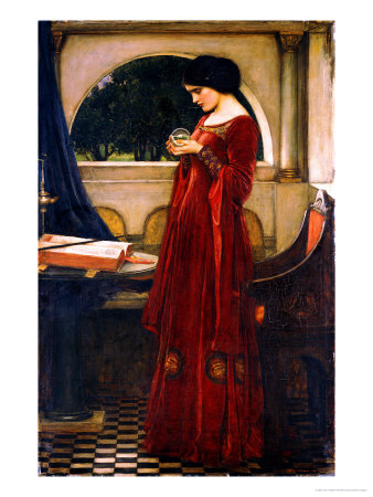 John Waterhouse-The Crystal Ball