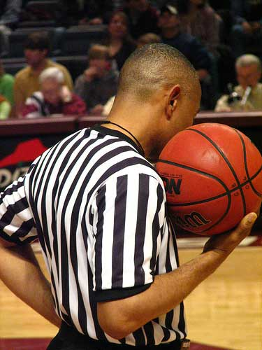 There is a reason referees, not the players, decide about plays during a game.